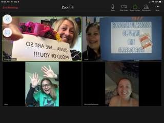 Teachers Congratulating Students Remotely