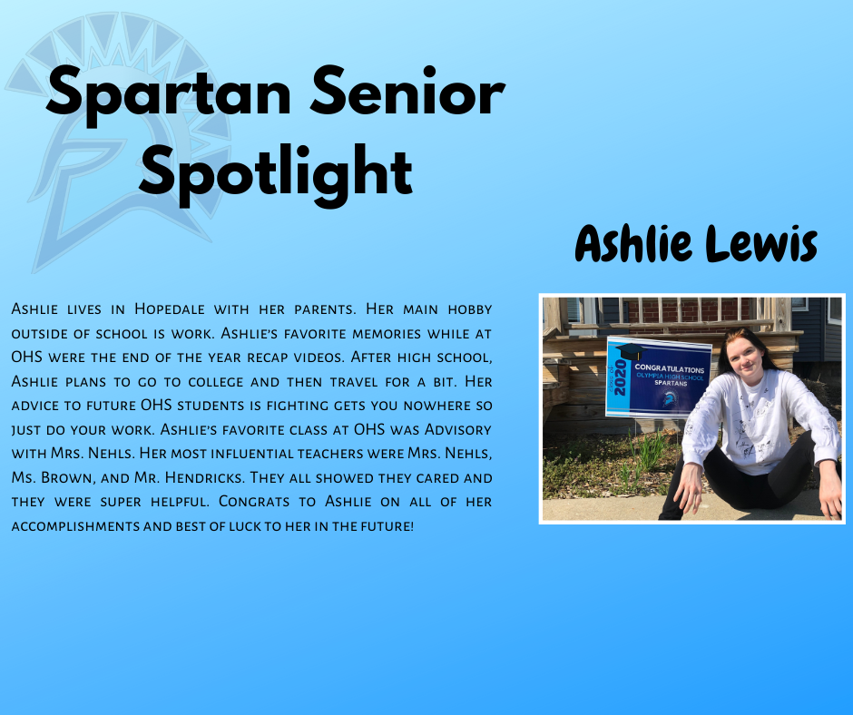 Spartan Senior Spotlight-Ashlie Lewis