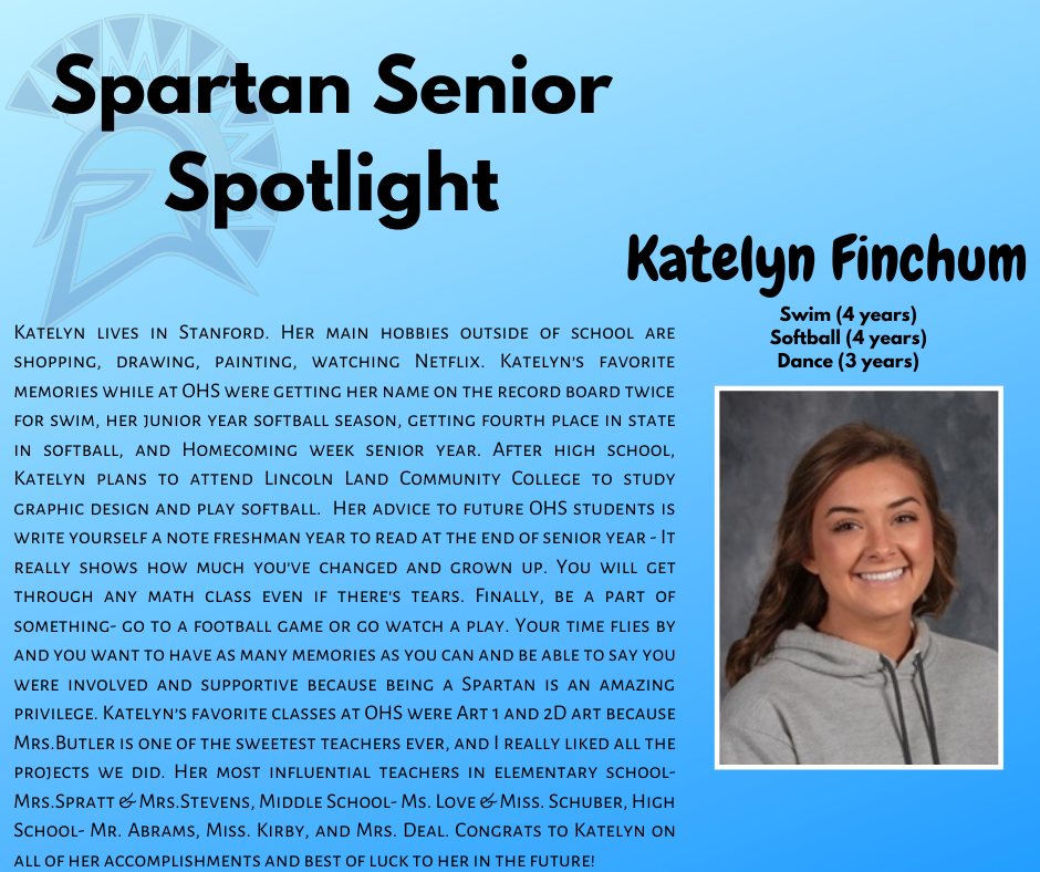 Spartan Senior Spotlight-Katelyn Finchum