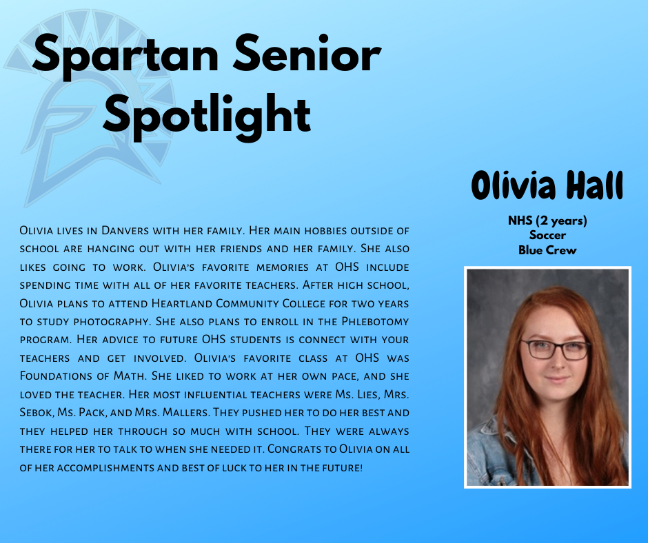 Spartan Senior Spotlight-Olivia Hall