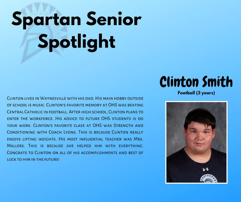 Spartan Senior Spotlight-Clinton Smith