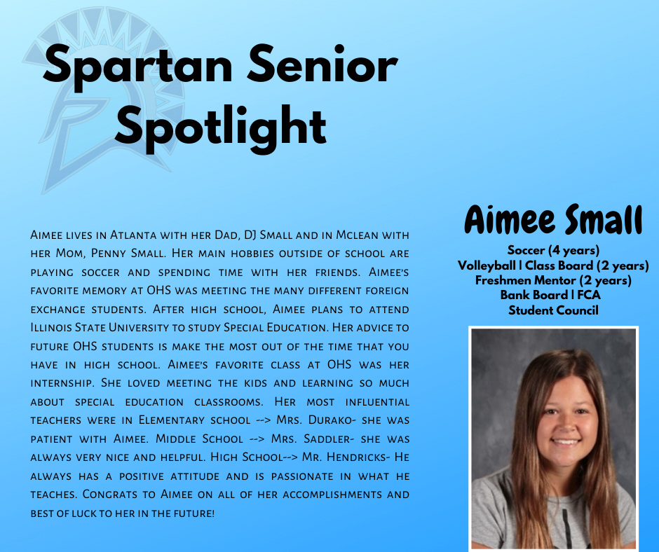 Spartan Senior Spotlight-Aimee Small