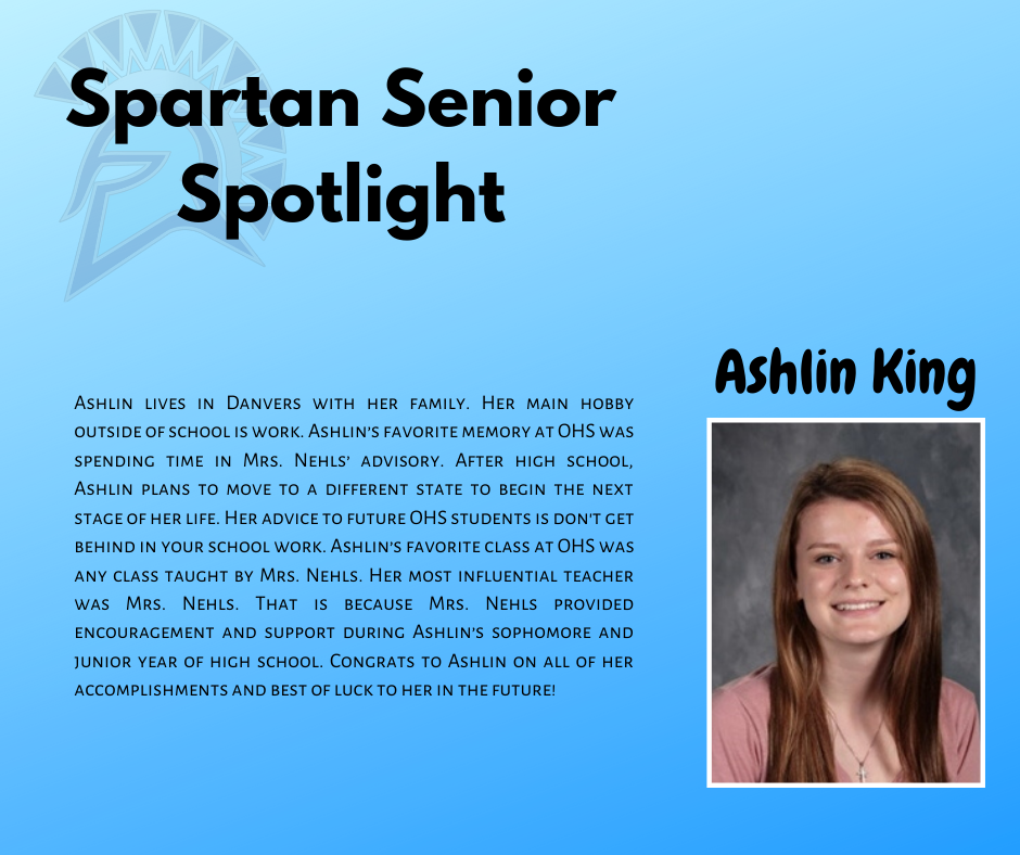 Spartan Senior Spotlight-Ashlin King