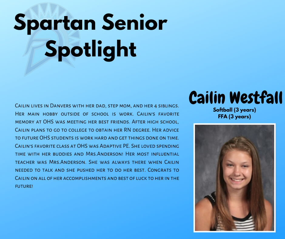 Spartan Senior Spotlight-Cailin Westfall