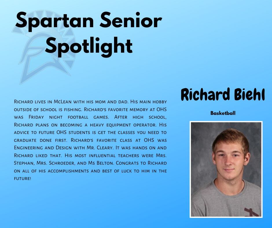 Spartan Senior Spotlight-Richard Biehl