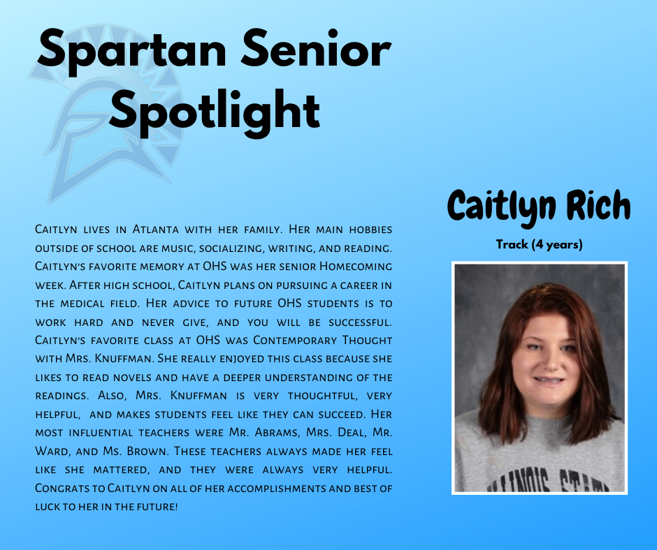 Spartan Senior Spotlight-Caitlyn Rich