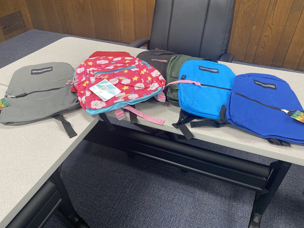Backpacks from MCC donation.